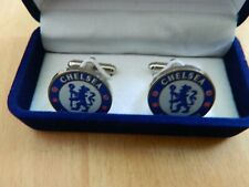 A Dark Blue Presentation Box Chelsea Football Club Cufflinks In