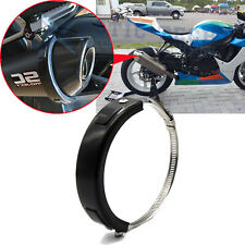 Motorcycle Oval Exhaust Protector Can Cover For Universal 100mm-140mm Motorbike
