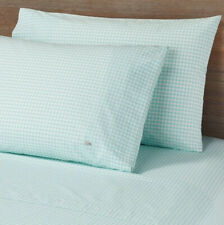 Lacoste 100% Cotton Percale 4 piece Set Full fitted flat sheets pillowcases mint