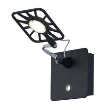 Searchlight 1 LED Square Black Indoor Outdoor Hallway Garage Porch Wall Light