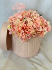 Hat Box Flowers Artificial Silk Bouquet Gift for Mothers Day Hydrangea Mum Nan