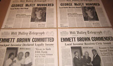 Back to the Future 2 Hill Valley Telegraph George/Emmett Prop Newspaper Replicas