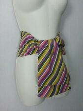 VTG 80s Waist Wrap Belt Multi-Color Yellow White Purple Pink Green 26-28 Disco
