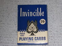 Vintage Invincible 8202 Poker Playing Cards Whitman Linen Finish Made in U.S.A.