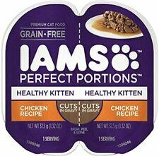 IAMS Perfect Portions Cuts in Gravy & Pate Kitten Grain Free Wet Cat Food, (24 T