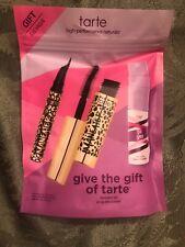 TARTE 3p Deluxe Samples Maneater Liquid Eyeliner Mascara Stay Spray NIP $35 GWP