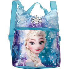 DISNEY FROZEN QUEEN ELSA Girls Kids Mini Backpack Purse Shoulder Bag Aqua 3+ NIP