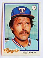 Paul Lindblad #314 Topps 1978 Baseball Card (Texas Rangers) VG