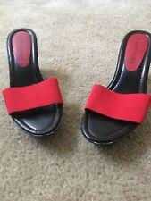RAMPAGE Women's Slip on Wedge MultiColor Heels Shoes Sz 8M