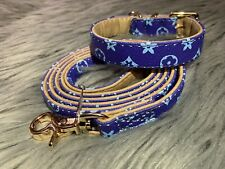 Luxury Blue LV Pet Collar And Leash