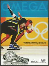 OMEGA -Official timekeeper of 22 Olympic Games - 2006 Watch Print Ad