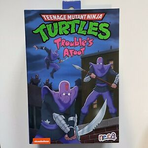 NECA TMNT Ultimate Foot Soldier Trouble's Afoot Teenage Mutant Ninja Turtles NEW