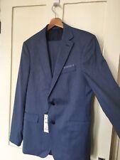 BNWT Zara Men's  two piece Suit Slim Fit Blue, Jacket Blazer 40, Trouser 36.
