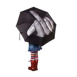 Creative Middle Finger Up Yours/Fuck Design Foldable Umbrella Sarcasm Windproof