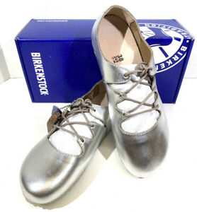 Birkenstock Rye Women's Size 7 (EU38)N Fit Silver Natural Leather Shoes S1-563