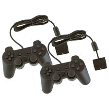 2x Controller Joystick per Sony PlayStation 2 PS2 PS1 Vibrazione Analogici Nero
