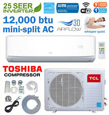 25 Seer 12000 BTU Ductless Mini Split AC Air Conditioner Energy Star 110V WIFI
