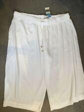 Viscose Wide Leg Regular Capri, Cropped Trousers for Women