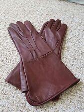 Medieval Renaissance Gauntlet Leather Gloves Long Arm Cuff Oxblood Medium