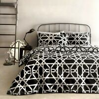Dreams & Drapes MANILA Black & White 100% Cotton Duvet Cover Set