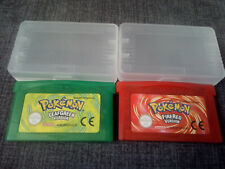 LOT POKEMON VERT FEUILLE & ROUGE FEU FRENCH VERSION FOR NINTENDO GBA