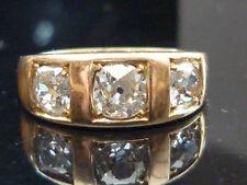 Excellent Cut Natural Yellow Gold VVS1 Fine Diamond Rings
