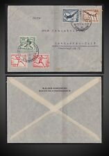 1936 GERMANY BERLIN OLYMPIA STADIUM FIRST DAY CANCEL ON COVER SCT. B82-89 MI.609
