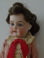 "Antique Bisque Head AM 370 Armand Marseille 16"" German Dressed Doll Kid Body"