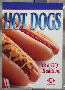 Dairy Queen Promotional Poster Hot Dogs dq2