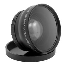 HD 52MM 0.45x Largo Angolo Obiettivo con Macro Lente per e Nikon Sony Penta S7D6