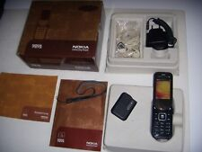 NOKIA 7373 BLACK CHROME AMOUR ORIGINALE PARI AL NUOVO+SCATOLA ACCESSORI COMPLETI
