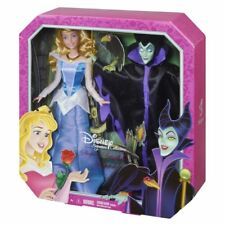 SET 2 DISNEY DOLLS: SLEEPING BEAUTY & MALEFICENT (BELLA DURMIENTE, MALÉFICA) NEW