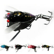 1PC Cicada Bass Insect Fishing Lures Crank Bait Floating Tackle Crankbaits JT