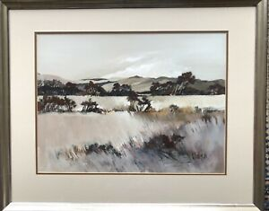 Ethel WALKER, Scottish Artist born 1941, Extensive Landscape