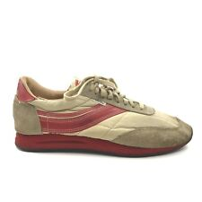 Vintage Osaga 70s Running Shoes Dunlop KT-26 Sneakers Red Stripe Leather Size 12