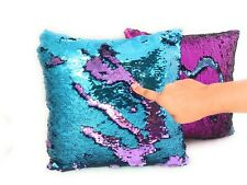 2 Pcs Reversible Sequins Pillow Cover Mermaid Fish Scale Pillowcase Throw Pillow