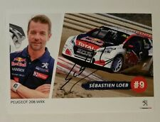 Sebastien Loeb FORMULE 1 autographe carte carte card autographe f1 WRC WRX collecteur carte