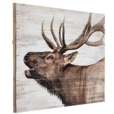 Elk Art Rustic Wood Wall Decor For Cabin-Cottage- Lodge Or Home New