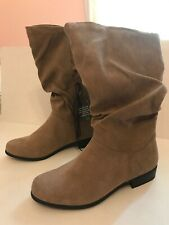 WOMENS EAST 5th JUNCTION TAUPE SUEDE BOOTS SIZE 5 MED (New) $89