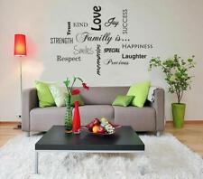 FAMILY LOVE LAUGHTER TRUST Decal WALL STICKER Lettering Art Decor Quote SQ95