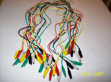 20pc TEST LEADS ALLIGATOR ROACH CLIP JUMPER WIRES  32""