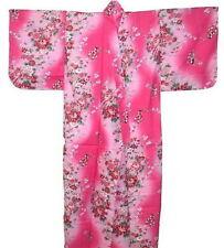"Japanese Women's Kimono Yukata Peony Made in Japan 56"" #M EK308"