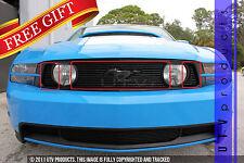 GTG 2010 - 2012 Ford Mustang GT 3PC Gloss Black Upper Overlay Billet Grille Kit
