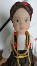 Handmade Doll in folk costume with certificate, made by Ivana Matijevic, Croatia