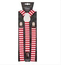 NEW Braces - Multi Colour Xmas Theme Stylish Fancy Dress Christmas Accessory