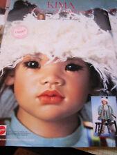 Vtg Annette Himstedt KIMA Doll Ad ~Advertisement ONLY Images of Childhood