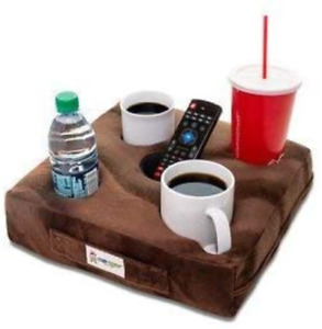 Cup Cozy Deluxe Pillow Brown- The world's BEST cup holder! Keep your drinks and