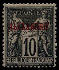 Alexandria. French P.O in Egypt. 1899. 10c. Black. SC# 6. Yv 6. Type II. MH. $65