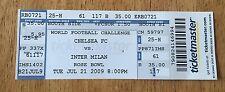 Chelsea FC vs Inter Milan World Football Challenge 2009 Ticket Stub