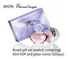 Avon Eternal Magic Perfume Set: 50ml & Glitter Mirror Compact BNIB **FREE P&P**